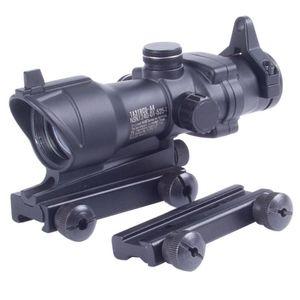2017 Tipo ACOG Red Dot Sight Scopes Tattico 1x32 Con Controllo della Luminosità Scope Mount per Airsoft punto di mira caccia Rifle Scope spedizione gratuita