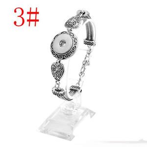 Braccialetto di modo delle donne dei gioielli dei bottoni a pressione intercambiabili placcati argento di 18mm dei braccialetti di Noosa dei blocchi di Noosa trasporto libero
