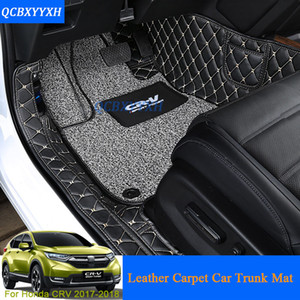Car Floor Mat 3D Leather Car-Styling All Leather Tray Carpet Cargo Liner Custom Fit Car Trunk Mat For Honda CRV CR-V 2017 Carpet