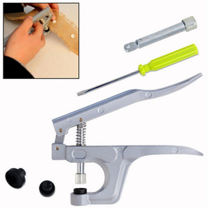 Sujetador de plástico Alicates Alicates Bottons Press con un destornillador para Herramientas T3 T5 T8 Kam Resina Botton arte de DIY de coser