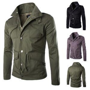 Vêtements Zippers Designer Vestes de Noël Manteaux Slim Fit Lapel Neck britannique manteau d'hiver pour hommes multi poches Veste J161038