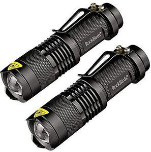2018 Rockbirds светодиодный фонарик, A100 Mini Super Bright 3 режима тактический фонарь, лучшие инструменты для походов, охоты, рыбалки и кемпинга