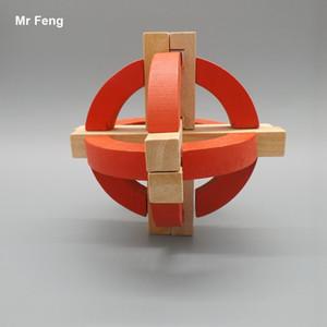 الكلاسيكية القديمة الصين الأجداد التقليدي tellurion خشبي قفل المخ دعابة لغز كيد هدية