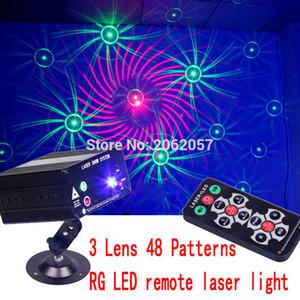 Оптово-3 объектива 48 шаблонов RG LED удаленный лазерный DJ DISCO свет праздничный эффект вечеринки лазерный проектор лазерное шоу сценическое освещение
