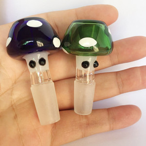 Colorful Mushroom Style Bong Bowls 14mm 18mm Male joint Glass Heady Bowl for Glass Bong Water Pipe Tobacco Hookah Accessories