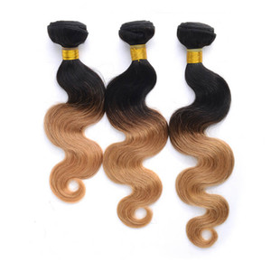 CORPO WAVE 100G cabelo Humano pacote lace closure tece encerramento lace closure loira com pacotes de cabelo virgem brasileiro sew em extensões do cabelo