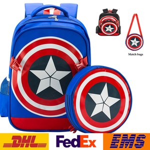 Neue Avengers Captain America Schulranzen Kinder Cartoon Schild Rucksack Schultertasche Mutter Sohn Taschen Composite Taschen Geschenke WX-B06
