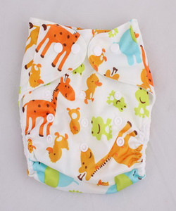 Kids Cloth Diapers Baby Wash Leak Proof Cloth Diapers Breathable Adjustable Cartoon Printing Modern Baby Nappies