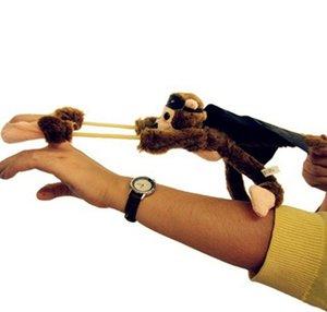 Novo Design Macaco do vôo dedo Voar gritando envio Brinquedos Slingshot Macaco Plush Toys Toy novidade 6 Animal Estilo Livre