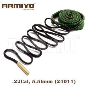 Armiyo Bore Snake Gun Barrel Reinigung Gewehr Gun Seil Pinsel Reiniger. 22Cal 5,56mm 24011 Jagdtasche Paket