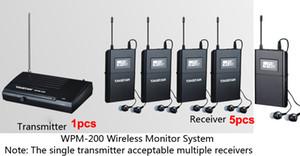 Boutique Takstar WPM-200 UHF Système de surveillance sans fil Stéréo In-Ear Casque Sans Fil Émetteur 1pcs + 5pc Récepteur + 5 écouteurs Livraison gratuite