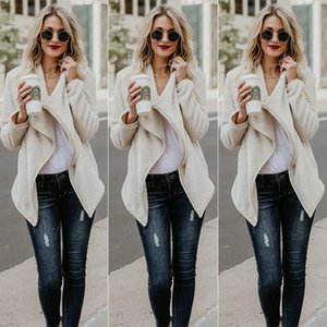 2017102941 Womens Winter Warm Jackets Cardigan Tops Outwear Lady Fluffy Shaggy Faux Fur Coat Jacket