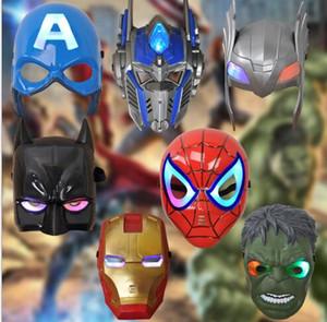 Los niños adultos favorecen la iluminación LED Optimus Prime Máscara Cosplay Huang Feng Masquerade Máscaras Party High Quality