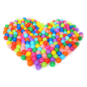 5.5CM 7CM 3000pcs lot EMS Eco-Friendly Colorful Ball Soft Plastic Ocean Ball Funny Baby Kid Swim Pit Toy Water Pool Ocean Wave Ball