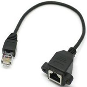 Cavo di prolunga per rete LAN Ethernet maschio-femmina Cat5 RJ45 nuovo di zecca con vite di montaggio a pannello da 60 cm