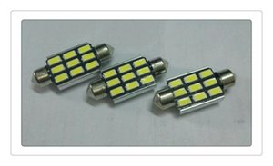 DHL Car led DC 12V LED CANBUS Festoon Interior Dome Bulb Light Size 31 36 39 41mm
