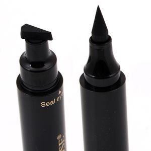 Özledim Gül marka makyaj sıvı eyeliner kalem hızlı kuru su geçirmez göz kalemi siyah renk ile damga güzellik göz kalem