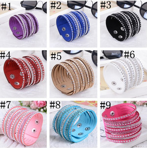 2020 New Fashion multilayer Wrap Bracelets Deluxe Leather Bracelets for women With Crystals Couple Jewelry Charm Bracelets