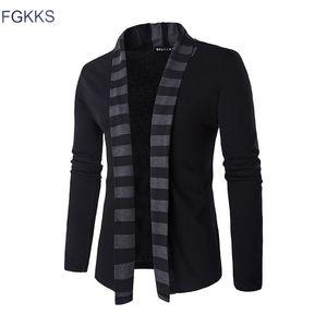 FGKKS 2017 Hot Sale Brand-Clothing Primavera Rebeca Hombre Moda Rayas Slim Fit Sweater Hombres Casual Hombres Suéteres