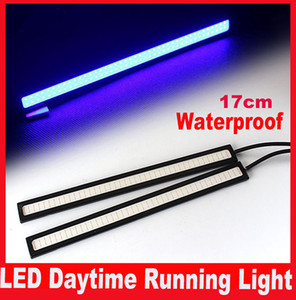 2 Adet 17 CM LED COB DRL Gündüz Koşu Işık Su Geçirmez Dış Led Araba Styling Araba Işık Kaynağı Park Sis Bar Lambası