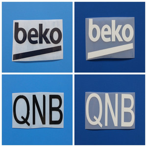 New balck white QNB BEKO football arm Print badges,Soccer Hot stamping Patch Badges