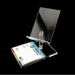 Livraison gratuite New Style acrylique transparent forme haute chaise cellulaire téléphone mobile show Présentoir Porte-Fixation du support