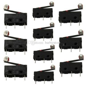 Black 10pcs KW12-3 Micro Roller Lever Arm Normally Open Close Limit Switch B00242 SPDH