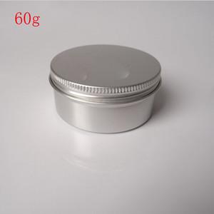 무료 배송 - 50 x 60g 알루미늄 용기, 크림 파우더 젤 사용을위한 금속 용기, 2 온스 화장품 병, 60ml 알루미늄 용기