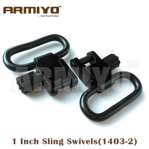 """Armiyo 1"""" 1 Inch 25.4mm Rifle Gun Sling Swivels with Quick Removable Bases Mounted Hunting Accessories 1403-2"""