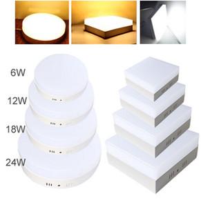 Moderno 6W 12W 18W 24W Round Square Surface Mount LED Downlights Lampada da soffitto 110 ~ 240V Lampara Bianco caldo Bianco freddo per Camera da letto Soggiorno