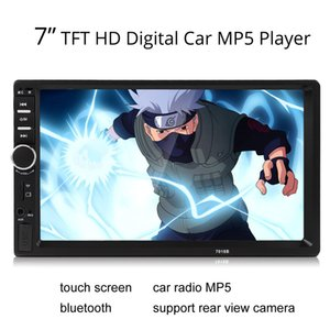 "7018B 2DIN voiture Bluetooth Audio 7 ""HD Radio In Dash Touch Screen Stéréo MP3 MP5 Player USB CMO_20O"
