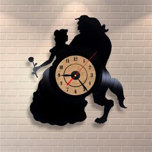 Temas Moda Atacado Relógio de parede montada Registro Quartz Relógio Grande decorativa Home Decor Art Assista Horloge Relógio de Parede