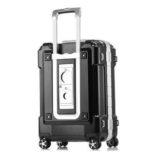 20 24 28 polegada maior capacidade ABS PC de alumínio Quadro de bagagem Bag Commercial caso Boarding Trolley Travel Suitcase Password Box bolsa