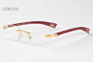 2018 new luxury buffalo horn glasses brand designer sunglasses for men women wood multicolored eyewear stand rectangle clear lens rimless gl
