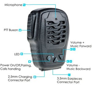 Altoparlante Zello Bluetooth Wireless Mic Altoparlante Bluetooth Push to Talk per iPhone / Android / Walkie Talkie Supporto ZELLO Walkie Talkie