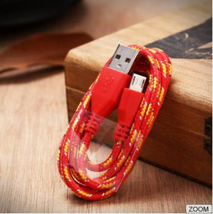USB Cable data charging weave cable cheap price nylon usb cable charging line for Samsung S4 for Android 1m 2m 3m