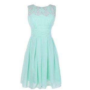 Jewel Neck Lace Chiffon Short Bridesmaid Dresses Knee Length Party Dress Elegant Cocktail Dress Custom Made