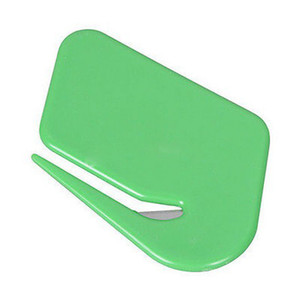 Mail Envelope Plastic Letter Opener Office Equipment Safety Paper Guarded Blade #R571