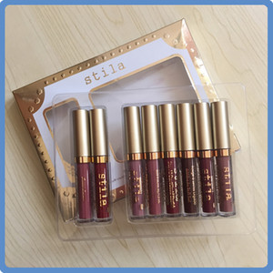 In stock! stila Star-studded Eight Stay All Days Liquid Lipstick set 8pcs box Long Lasting Creamy Shimmer Liquid Lipstick Dropshipping