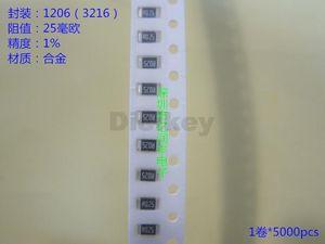 Atacado - Frete grátis 100PCS 1206 0.025R R025 25mR 1W 1% de folha de metal baixa baixa Ohmic Resistor de Chip TCR