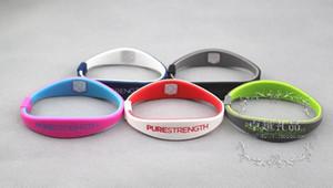 O punho PURO dos esportes do silicone da forma do bracelete do silicone da energia pode ser personalizado por atacado