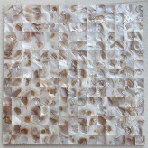 20x20mm Естественного цвета Мать Плитки Pearl оболочки, бесшовная плитка, ванной уборной настенной плитка кухни плинтус плитка # MS152