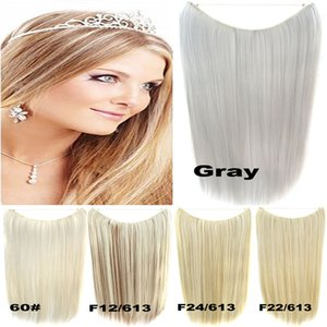 """Wholesale-22""""(55cm )50g Flip In Heat proof synthetic Hair Extension Secret Miracle straight Hair Wire No clips 41colors"""