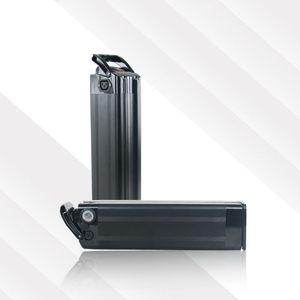 US EU Keine Steuer Top entladen Silver Fish Batterie 36V 12Ah elektrische Fahrradbatterie mit Aluminiumkasten 36V 500W eBike Li-Ionen-Akku