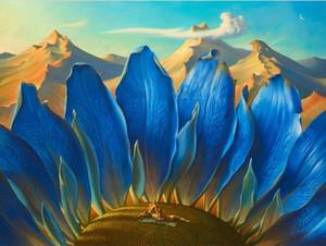 Encadré Vladimir Kush, Les montagnes, Peinture à l'huile abstraite pure peint à la main pure sur toile de haute qualité multi tailles Livraison gratuite Ab183