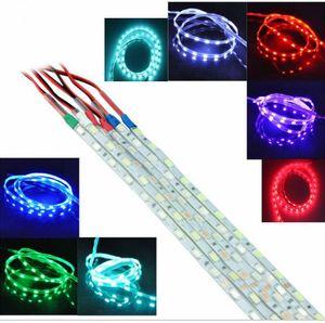 100X مزيج اللون 90CM SMD 5730 LED قطاع الضوء الأزرق 12V ماء أبيض أحمر أخضر أزرق وردي الثلج الأزرق
