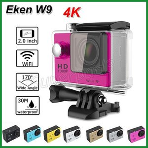 """Esportes Ação Câmera de Vídeo EKEN W9 4 K 10FPS Wifi Esporte DV À Prova D 'Água 30 M Câmeras de Mergulho 2 """"Tela LCD 170 ° COMS Full HD 1080 P"""