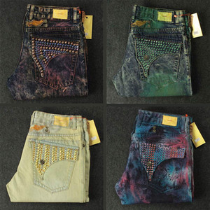 Новая мужская Robin джинсы Rock Revival Дизайнер джинсовой Жан с кристаллом Шпильки Карманы Байкер Брюки мужские размер 32-42