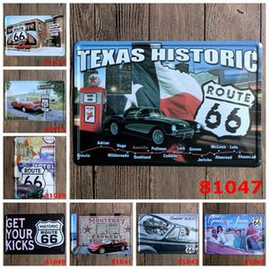 Adesivi classici da parete Vintage Targa in metallo Route 66 wall sticker home decor Casa Ufficio Garage Bar ferro Dipinti 20 * 30CM