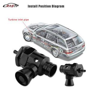 RASTP -Evrensel Alüminyum 25mm Araba Turbo Bov Dökümü Oral Kapalı Vana Whistler Ayarlanabilir LS BOV021 (Renk: Siyah)